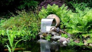 waterornament in de tuin